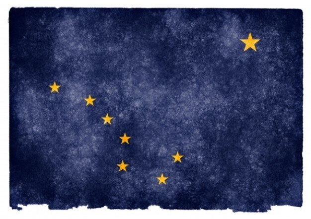 Alaska grunge flag