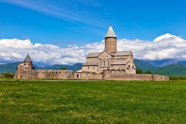 Alaverdi orthodoxes kloster in der region kachetien, georgien.
