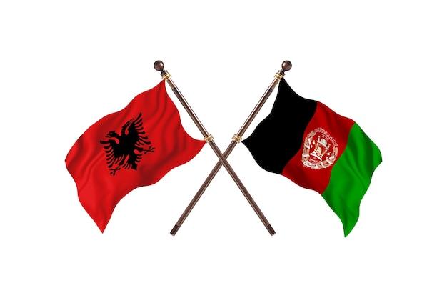 Albanien gegen afghanistan zwei flaggen