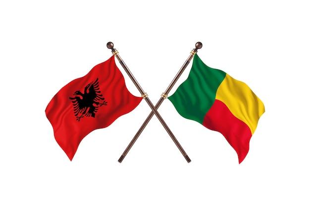 Albanien gegen benin two flags