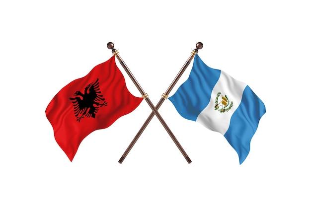Albanien gegen guatemala zwei flaggen