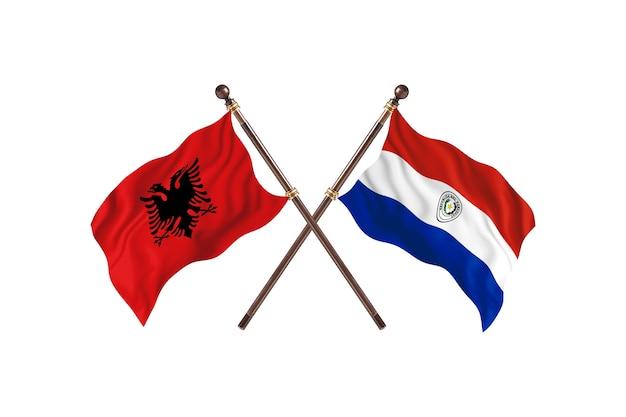 Albanien gegen paraguay two flags