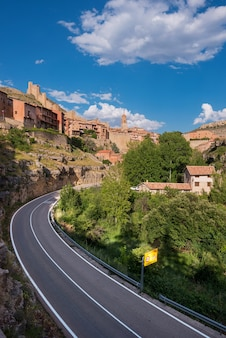 Albarracin, mittelalterliches dorf in teruel, spanien.