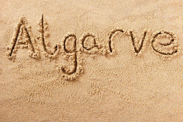 Algarve portugal strandsandzeichen