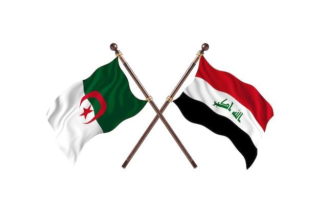 Algerien gegen irak zwei flaggen
