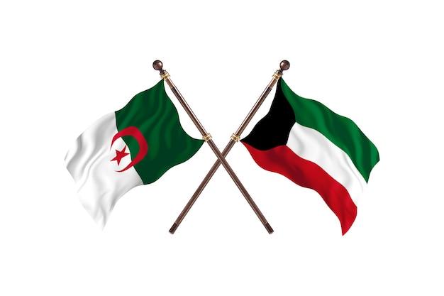 Algerien gegen kuwait two flags
