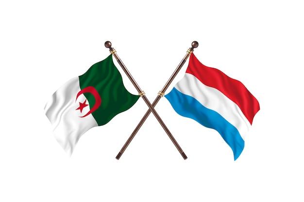 Algerien gegen luxemburg two flags
