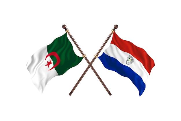 Algerien gegen paraguay two flags