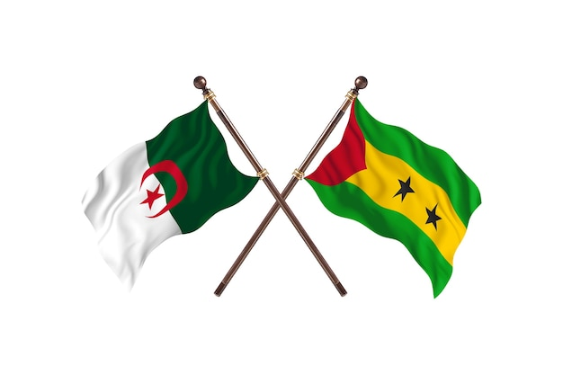 Algerien gegen sao tome und principe two flags