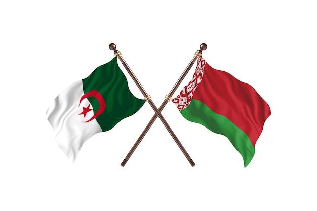 Algerien gegen weißrussland zwei flaggen