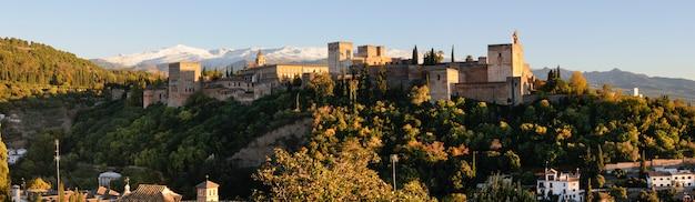 Alhambra umgeben von grünen bäumen
