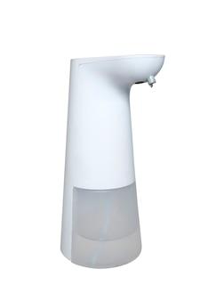 Alkohol-gel-behälter zum händewaschen isoliert auf weißem hintergrund