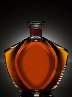 Alkohol in einer schönen flasche