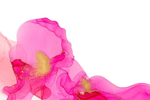 Alkoholtinte rosa abstrakte welle hintergrund aquarell flecken hintergrund