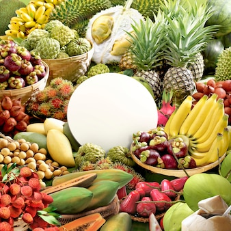 Alle früchte und das preisschild