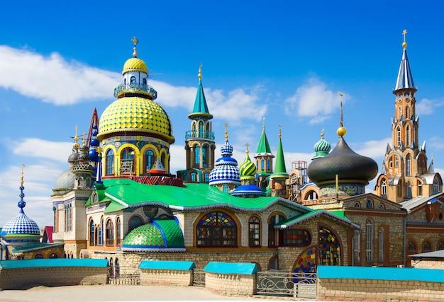 Alle religions-tempel in kasan, tatarstan, russland