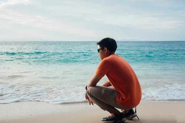 Allein der strand