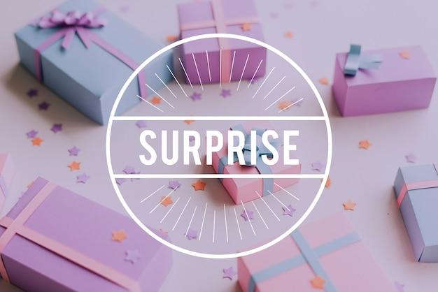 Alles gute zum geburtstagsfeier-geschenk-überraschungs-wort-grafik