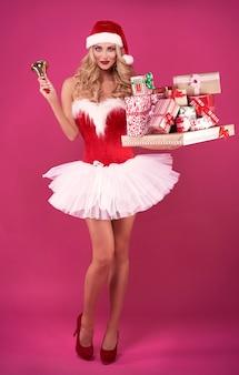 Alles sagt, dass weihnachten sehr nah ist