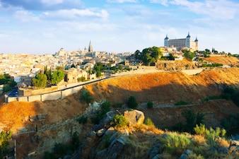 Allgemeine Ansicht von Toledo am Sommertag