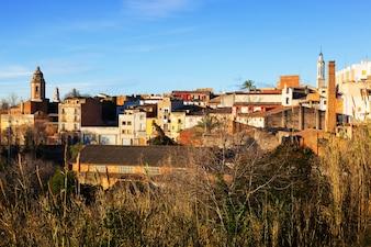 Allgemeine Ansicht von Valls im Winter. Tarragona