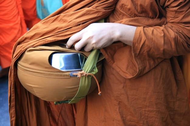 Almosenschale des buddhistischen mönchs, thailand