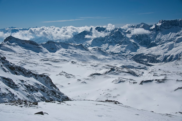 Alpen von der hochebene rosa