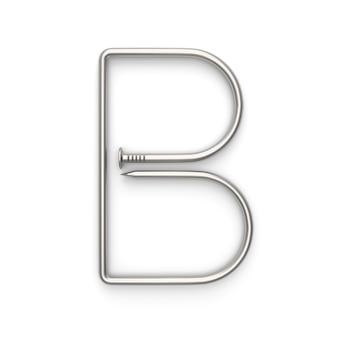 Alphabet aus nagel gemacht