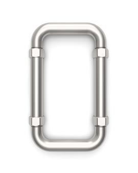 Alphabet hergestellt vom metallrohr, wiedergabe des buchstaben o 3d