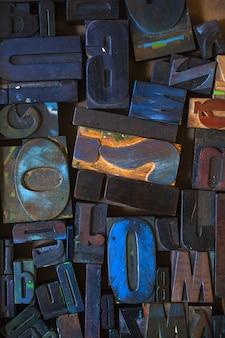 Alphabet stempel, blockschrift