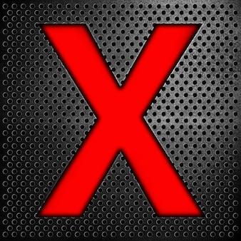 Alphabetsymbolbuchstabe x