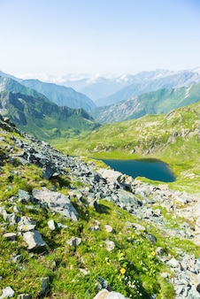 Alpine rocky mountains