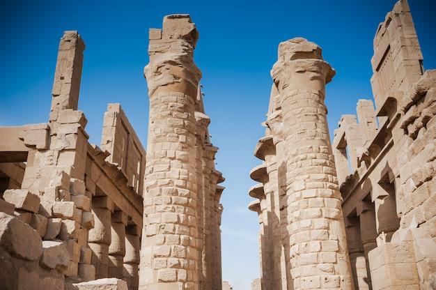 Alte ägyptische architektur der pharaonen