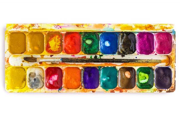 Alte aquarellfarben, isoliert