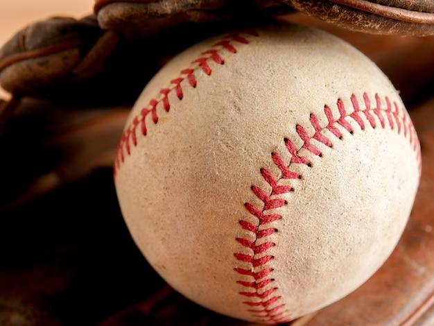 Alte baseballhintergrundbeschaffenheit der sportausrüstung