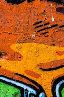 Alte bemalte betonmauer