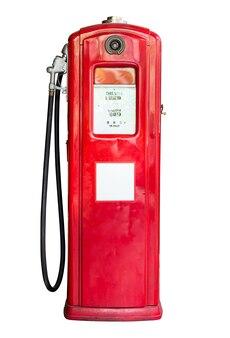 Alte benzinölpumpe lokalisiert auf weiß