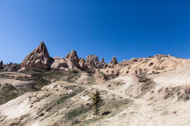 Alte berghintergründe der region kappadokien