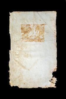Alte buchumschlag vintage textur isoliert, alte altersschwache religiöse historische manuskript papier bindung brief jiddische schimmel seltenheit