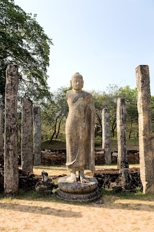 Alte buddha-statue in polonnaruwa