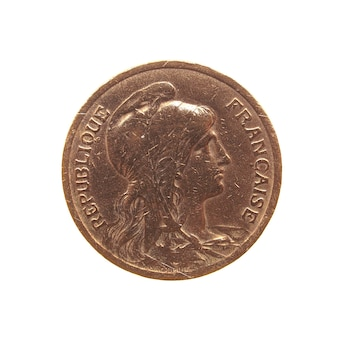 Alte französische münze isoliert