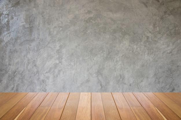 Alte grungy beschaffenheit, graue betonmauer schmutzige weinlesezementwand grunge hintergrund-tapeten-holzfußboden.