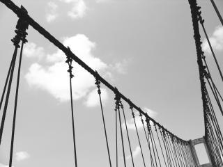 Alte hängebrücke