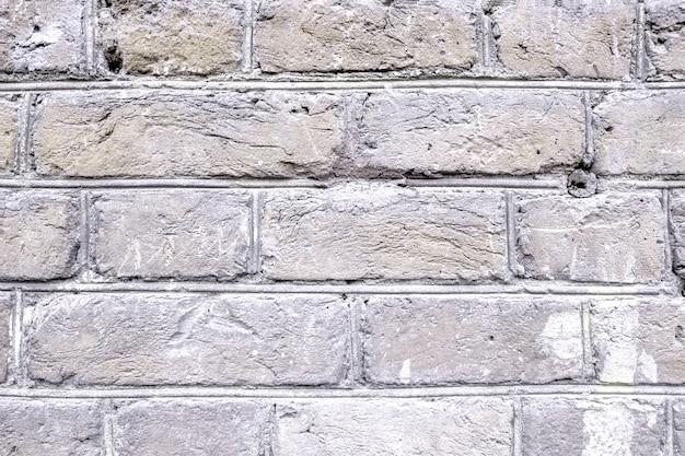 Alte helle backsteinmauer.