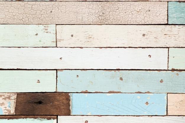 Alte hölzerne platte des multi farbschmutzes maserte hintergrund für dekoration