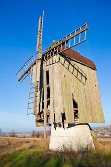 Alte holzwindmühle