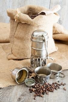 Alte kaffeekanne