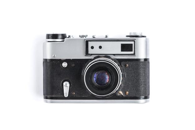 Alte kamera lokalisiert auf weiß