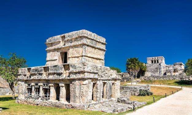 Alte maya-ruinen in tulum im mexikanischen bundesstaat quintana roo