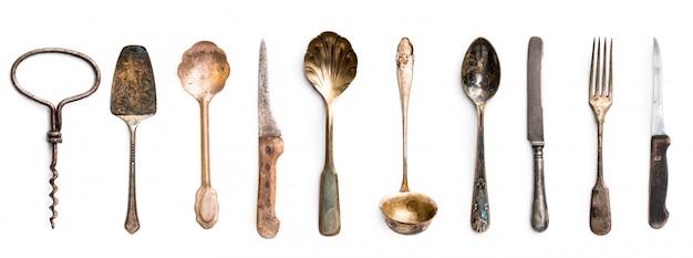 Alte metallische küchengeräte